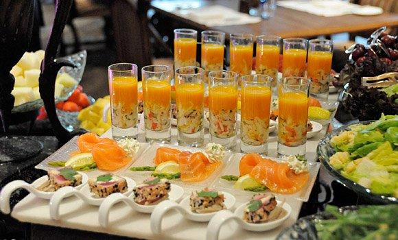 Góc đồ ăn nhẹ trong tiệc buffet