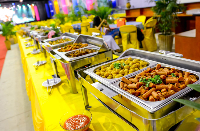 Thực đơn buffet chay, những dụng cụ cần có trong tiệc buffet chay